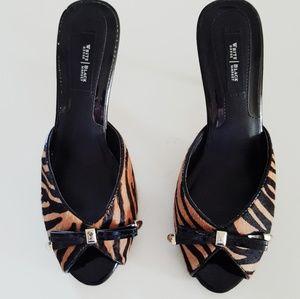 White House Black Market Shoes - WHITE HOUSE BLACK MARKET TIGER PRINT SANDALS